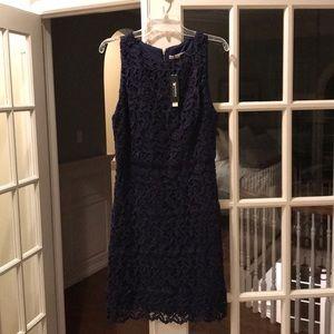 Alice and Olivia navy lace dress NEW